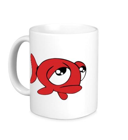 Керамическая кружка Грустная рыба