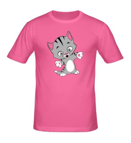 Мужская футболка Веселый котенок
