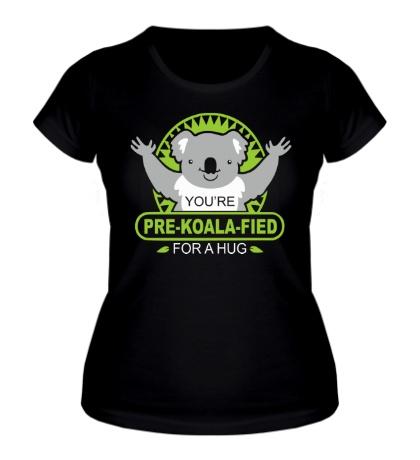 Женская футболка Коала обнимает