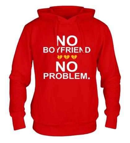Толстовка с капюшоном No boyfriend no problem.