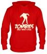 Толстовка с капюшоном «Zombies only want a hug glow» - Фото 1