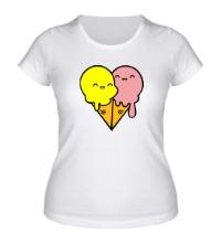 Женская футболка Веселые мороженные