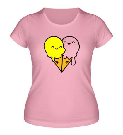 Женская футболка «Веселые мороженные»