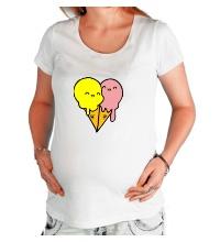Футболка для беременной Веселые мороженные