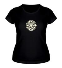 Женская футболка Iron Man reactor