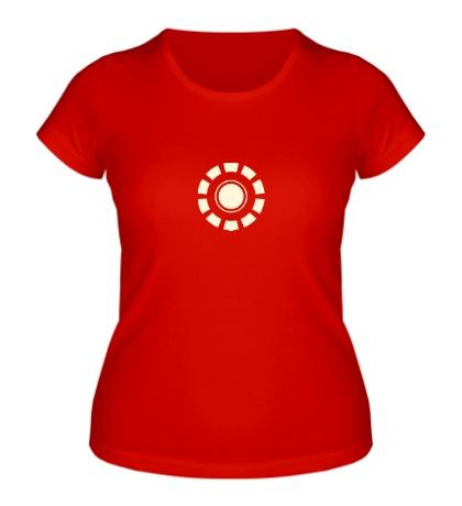 Женская футболка Arc Reactor Glow