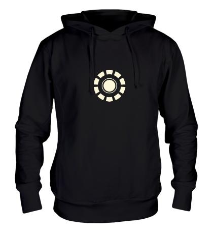 Толстовка с капюшоном Arc Reactor Glow
