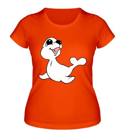 Женская футболка Милый тюлень