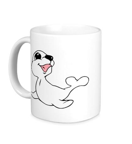 Керамическая кружка Милый тюлень