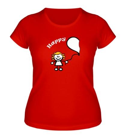 Женская футболка Счастливы вместе, для нее