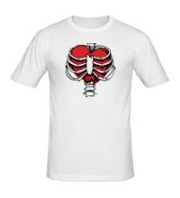 Мужская футболка Сердце в ребрах