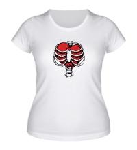 Женская футболка Сердце в ребрах