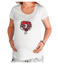 Футболка для беременной Сердце в ребрах