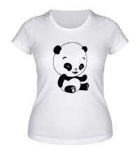 Женская футболка Панда смеется