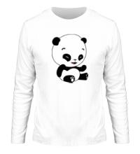 Мужской лонгслив Панда смеется