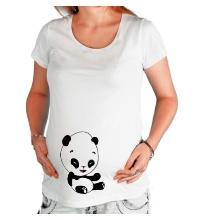 Футболка для беременной Панда смеется