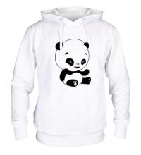 Толстовка с капюшоном Панда смеется