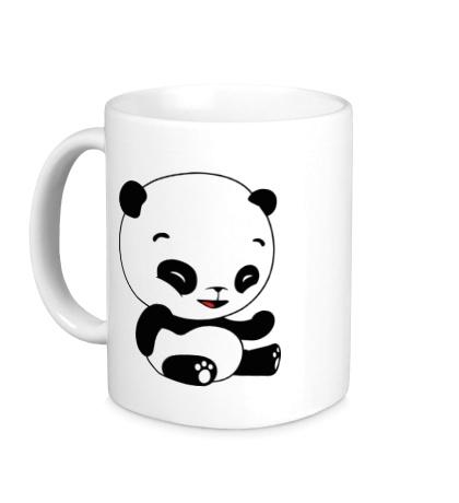 Керамическая кружка Панда смеется