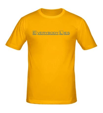 Мужская футболка Everybody Lies Sign