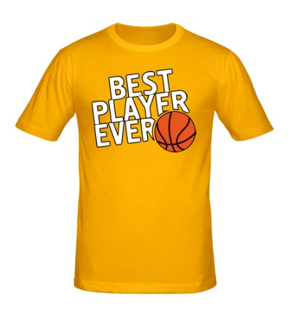 Мужская футболка Best basketball player