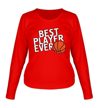 Женский лонгслив Best basketball player