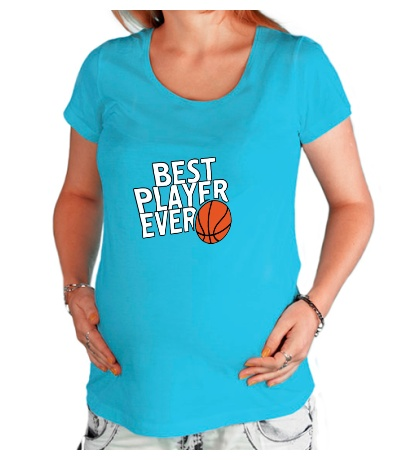 Футболка для беременной Best basketball player