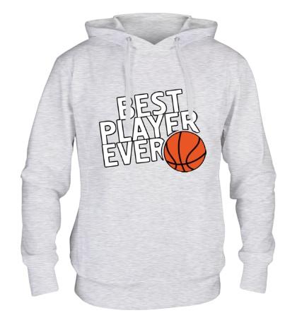 Толстовка с капюшоном Best basketball player