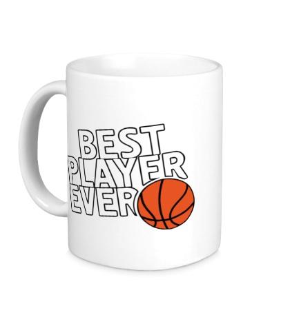 Керамическая кружка Best basketball player