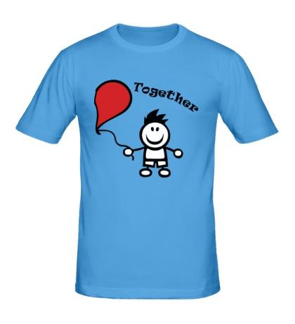Мужская футболка Счастливы вместе, для дего