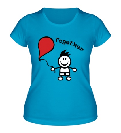 Женская футболка Счастливы вместе, для дего