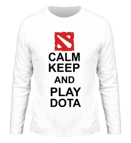 Мужской лонгслив Keep calm and play dota