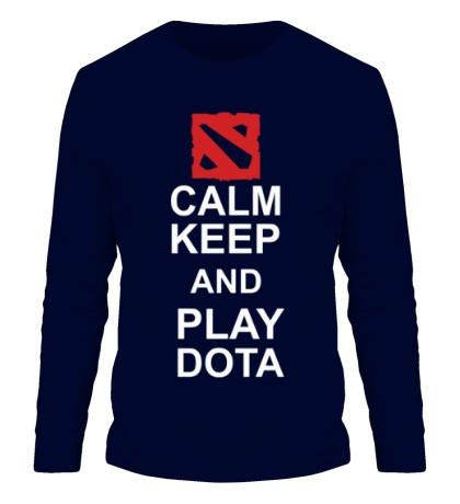 Мужской лонгслив Keep calm and play dota