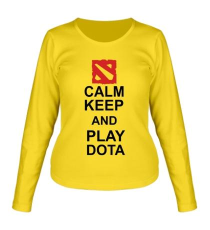 Женский лонгслив Keep calm and play dota