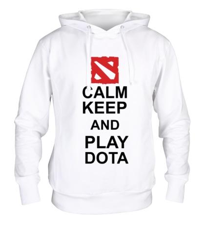 Толстовка с капюшоном «Keep calm and play dota»