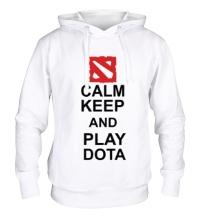 Толстовка с капюшоном Keep calm and play dota