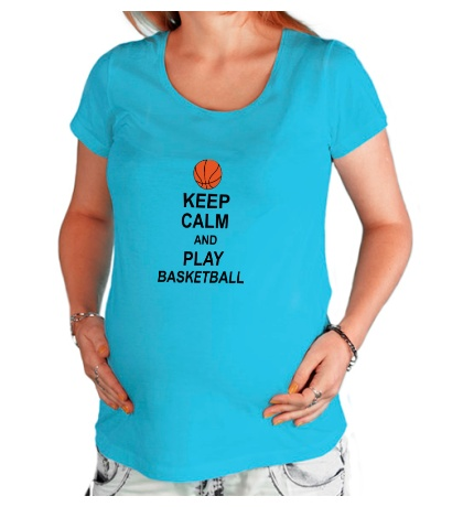Футболка для беременной Keep calm and play basketball