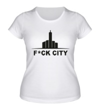 Женская футболка Fck city