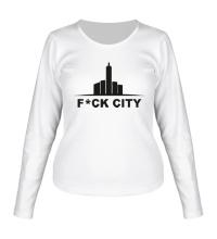 Женский лонгслив Fck city