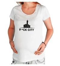 Футболка для беременной Fck city