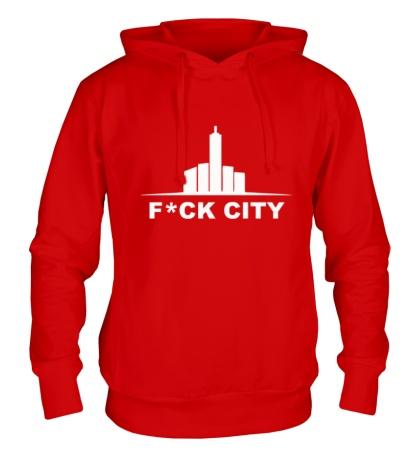 Толстовка с капюшоном Fck city