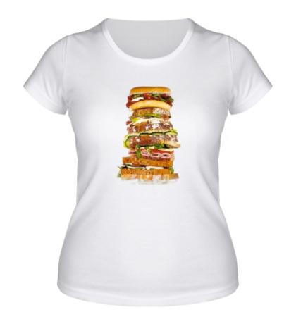 Женская футболка Мегабургер