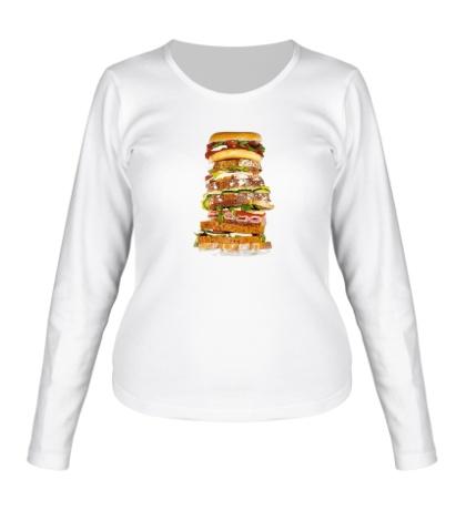 Женский лонгслив Мегабургер