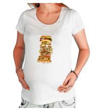 Футболка для беременной Мегабургер