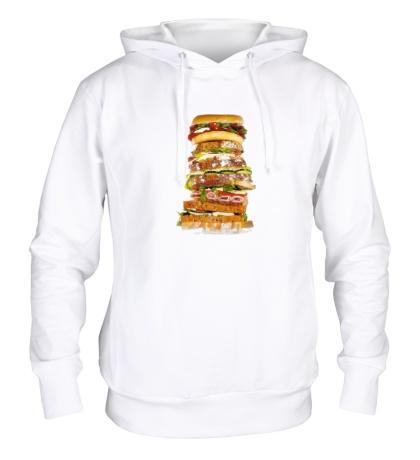 Толстовка с капюшоном Мегабургер