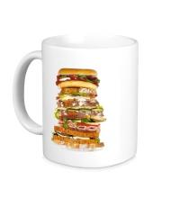 Керамическая кружка Мегабургер
