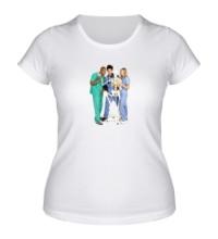 Женская футболка Клиника
