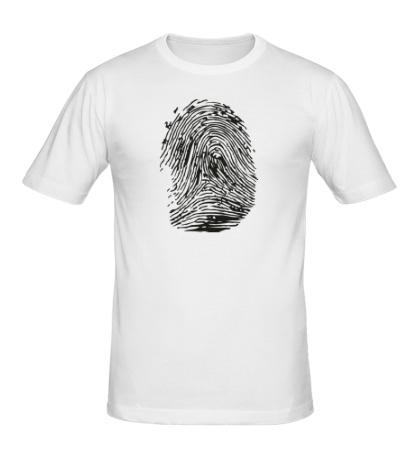 Мужская футболка Отпечаток пальца