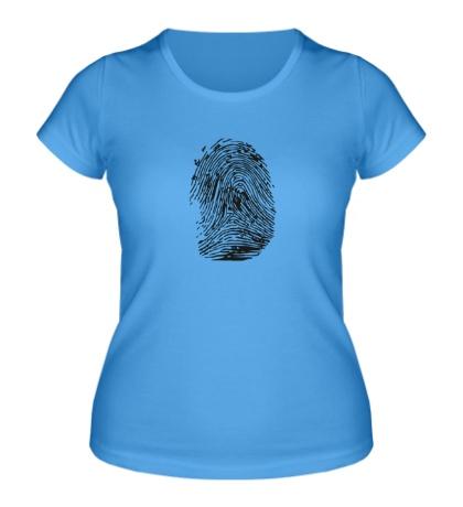 Женская футболка Отпечаток пальца
