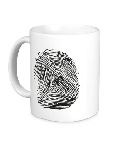 Керамическая кружка Отпечаток пальца