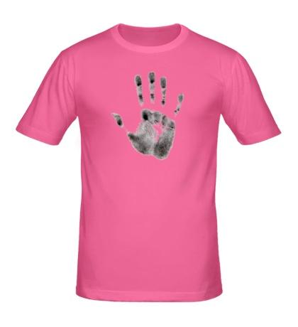 Мужская футболка Отпечаток руки